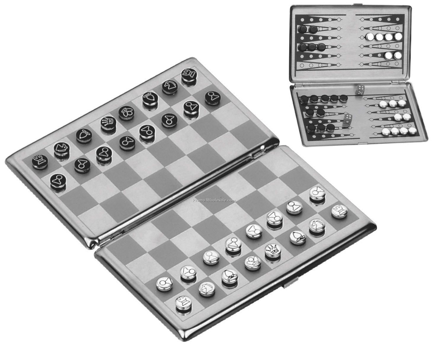 Metal Travel Magnetic Chess / Checkers