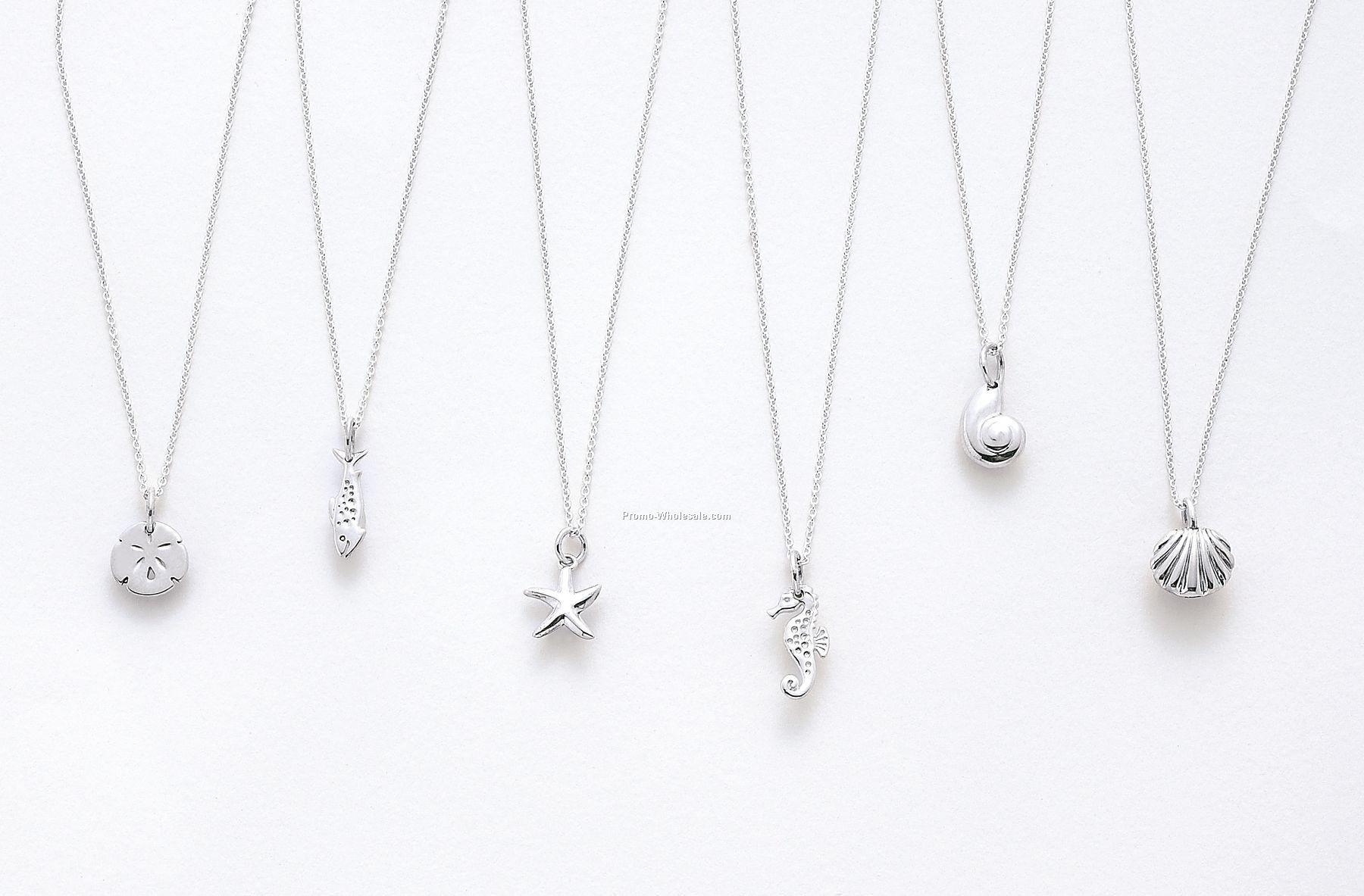 Pendantschina wholesale pendants plated silver sealife series pendant on cable chain w custom phrase logo aloadofball Image collections
