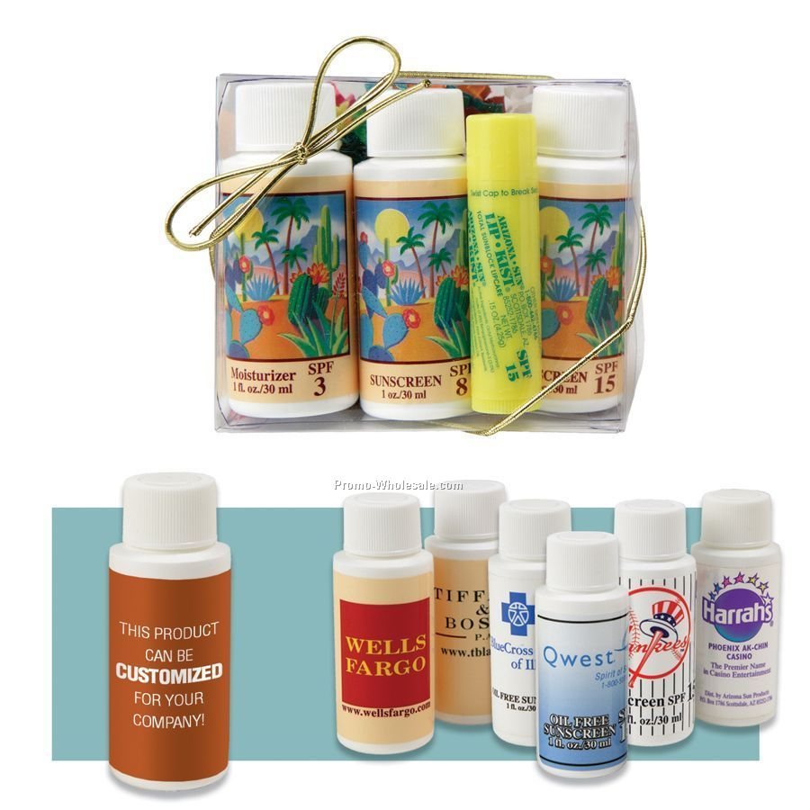 Sampler Gift Set With Three 1 Oz. Products & Lipkist Lip Balm