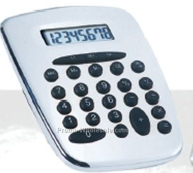 Silver Metal Desk Calculator With Currency Converter