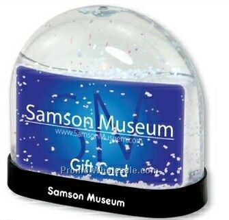Snow Globe W/ Insert For Gift Card