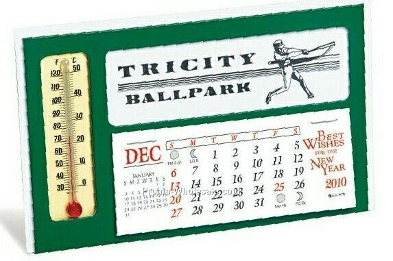 The Window Desk Calendar W/ Thermometer
