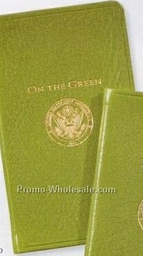 Usga On The Green Score Book W/ Traditional Genuine Leather Cover