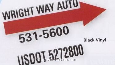 Vinyl Cut Sign Decals (142-172 Square In.) 1 Color