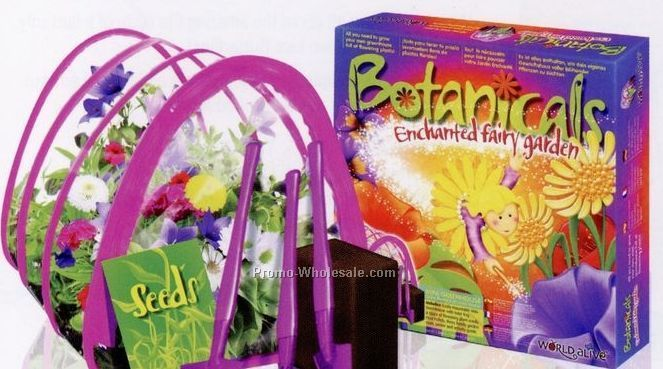 World Alive Enchanted Fairy Garden Mini Greenhouse Habitat Kit