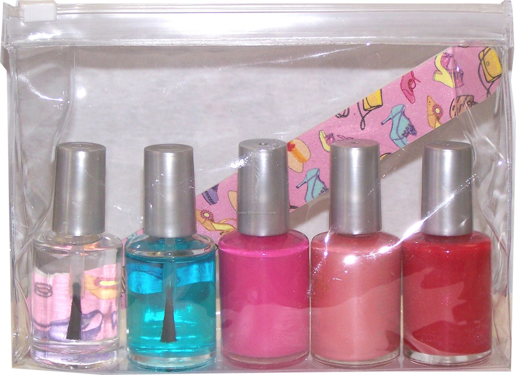 1/2 Fl. Oz Nail Polish Bottles In A 5-piece Nail Kit