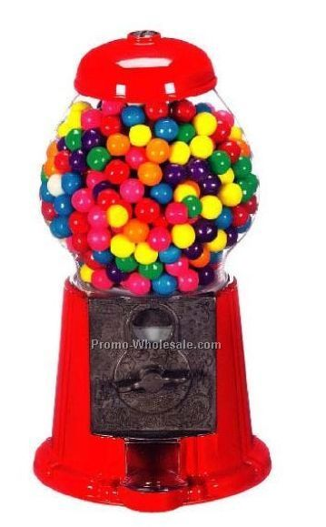 "11"" Metal & Glass Gumball Machine/Bank"