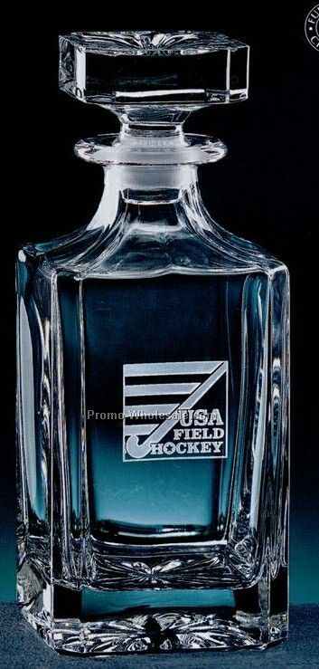 26-1/2 Oz. Full Lead Crystal Starburst Decanter (Deep Etch)