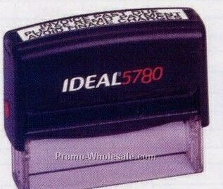 "3""x5/8"" Ideal 5780 Custom Self Inking Stamp"