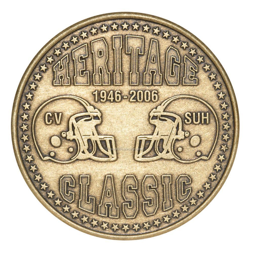 39 Mm Verbronze Coin / Medallion (12 Gauge)