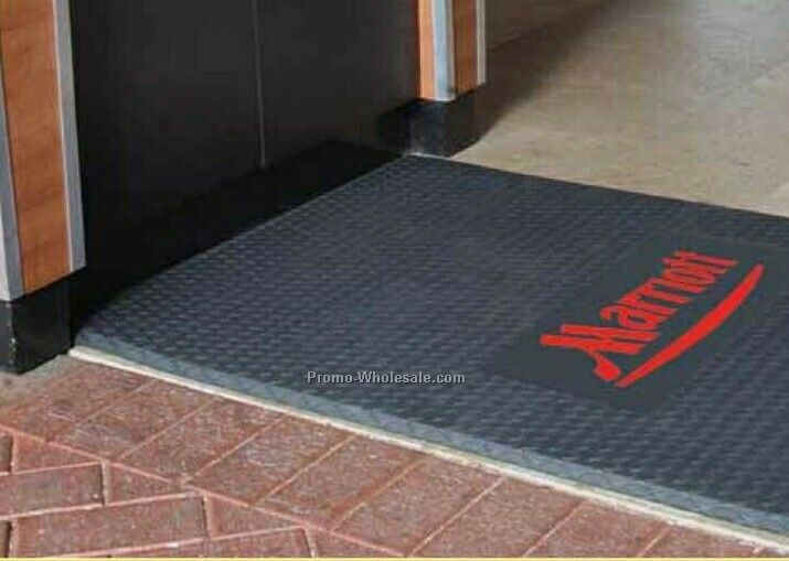 3'x4' Cushion Max Anti-fatigue Logo Mats With 2 Colors
