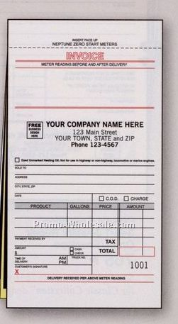 "4-1/8""x7"" 3 Part Fuel Meter Ticket Form W/ Carbons"