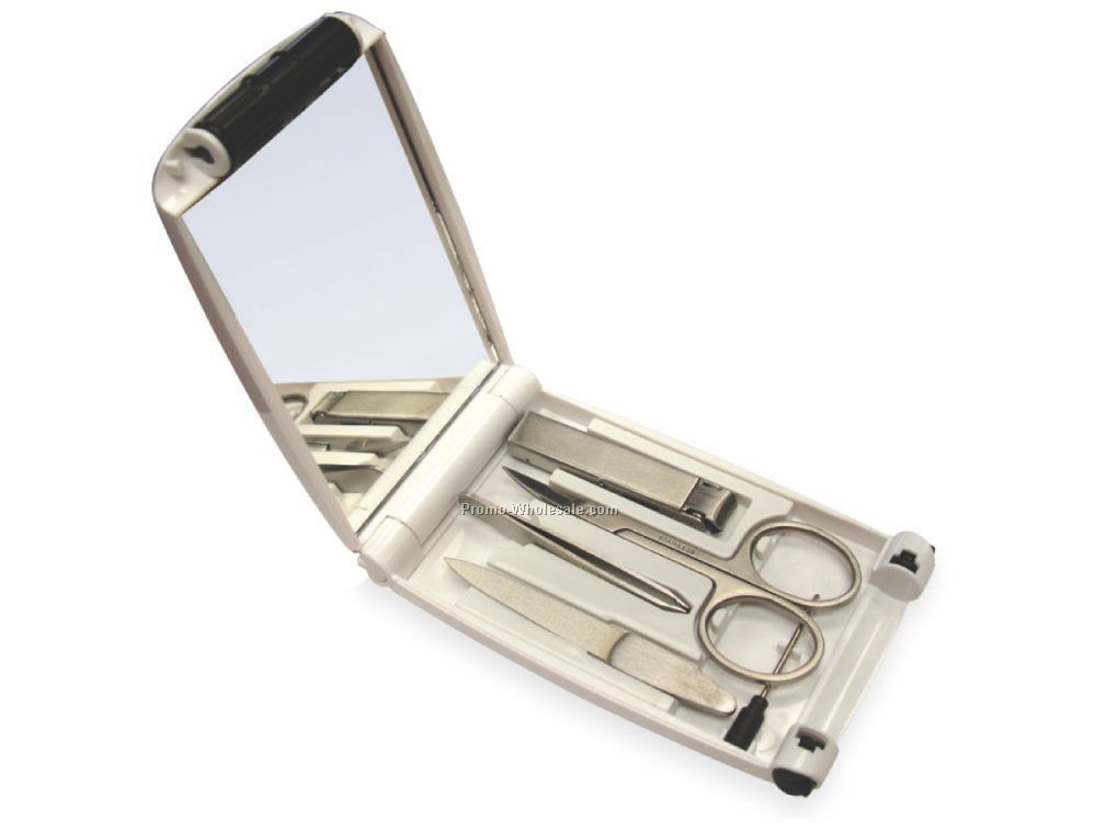 4-in-1 Lighted Manicure Set With Mirror,Wholesale china