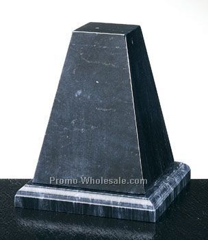 "5""x5-3/4""x5"" Black Marble Deluxe Tapered Column"