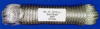 50' Pre-bagged Polypropylene Flagpole Halyard (Model Ph8) Silver