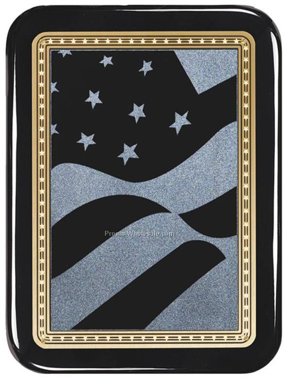 "7"" X 9"" Flag Plate Plaque"