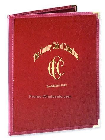 "8-1/2""x14"" Pajco Menu Cover With Clear Pockets-2 View"