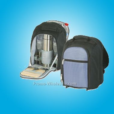 "9-1/2""x14""x16"" Picnic Coffee Backpack For Two (Screened)"
