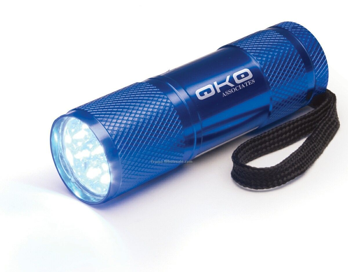 9 LED Flashlight - Blue