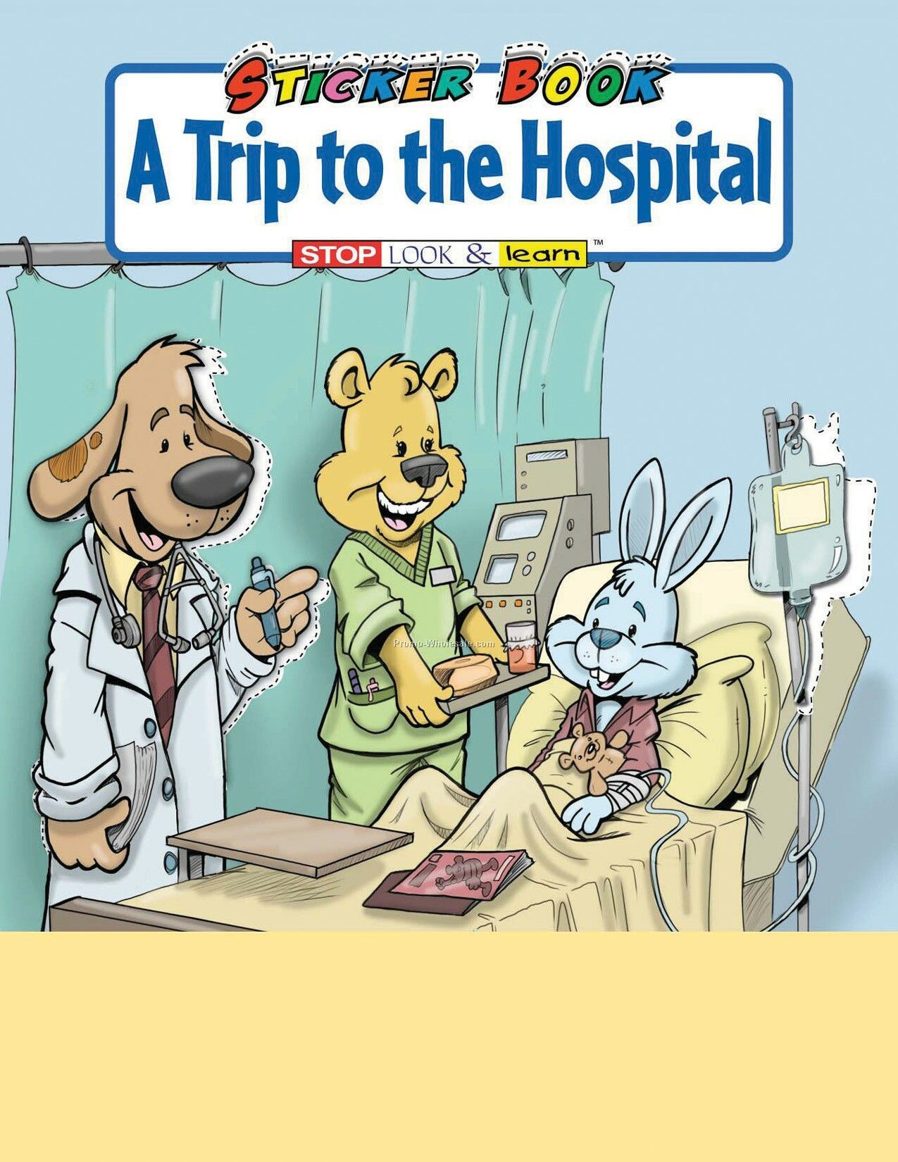 Childrens hospital coloring book - A Trip To The Hospital Sticker Book
