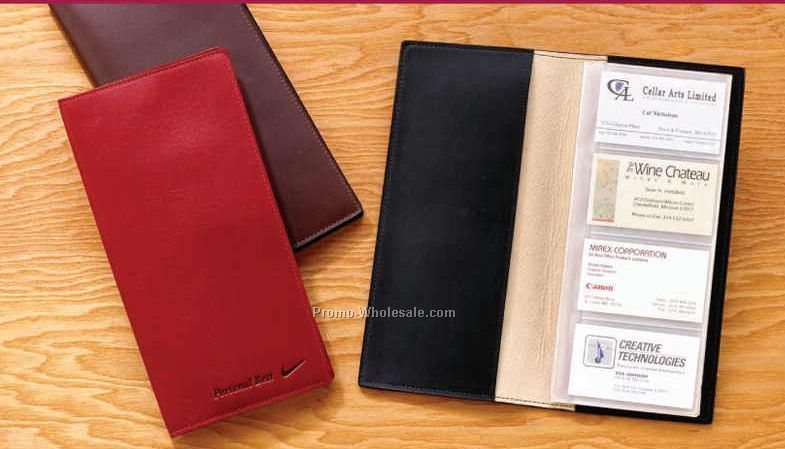 Aniline Glazed Calfskin Card File