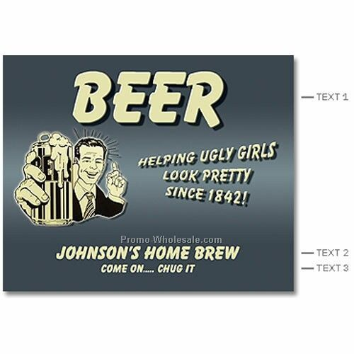 "Beer Label - 3-1/2""x4"" Labels (Helping Girls)"