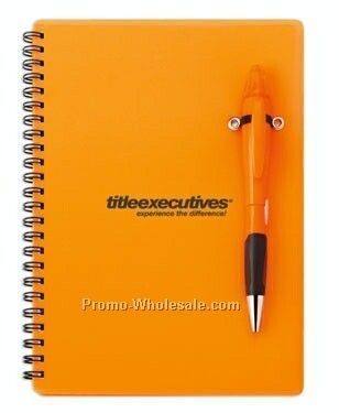 Blossom Chrome Tip Pen & Highlighter Combo W/ Spiral Notebook