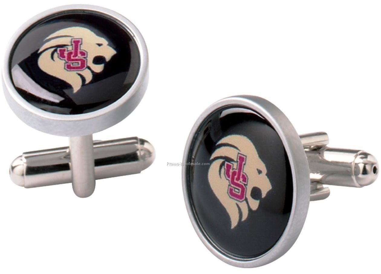 Epoxy Dome Cuff Links Set
