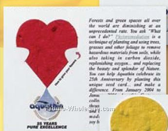 Floral Seed Paper Pop-out Post Card - Heart