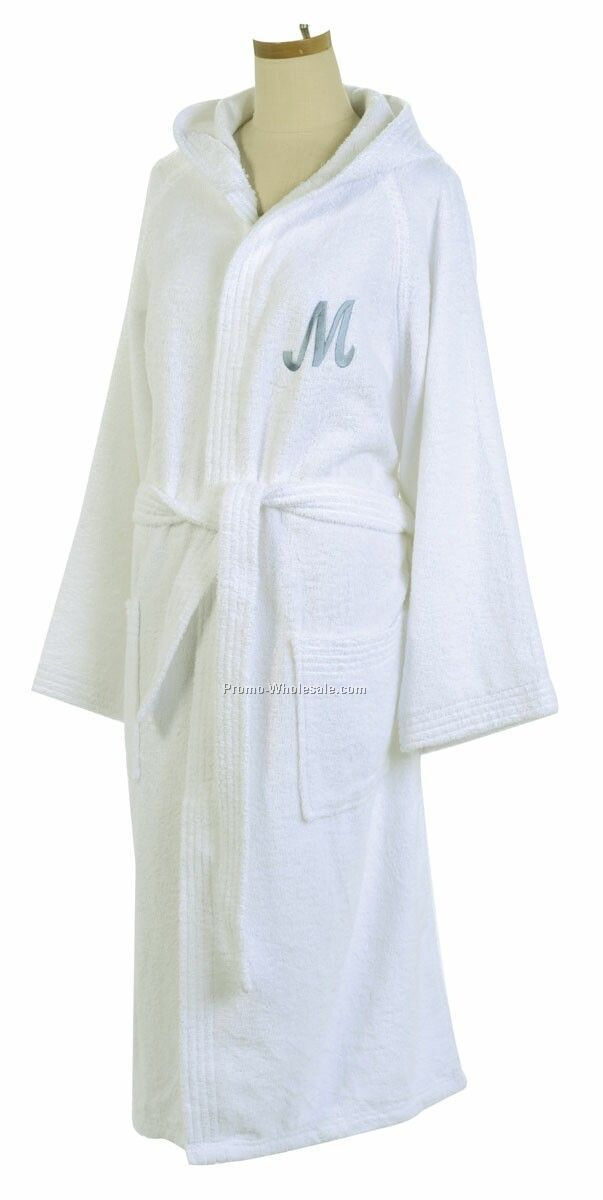 Hooded Terry Robe (Embroidered)