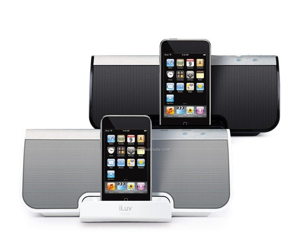 Iluv Ipod Docking Speaker With 3d Sound - Wht