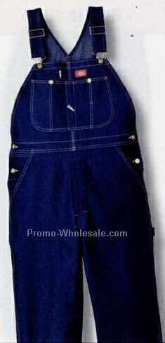 Indigo Blue Bib Overall W/ Cross Over High Back (Inseam 30-36, Waist 30-60)