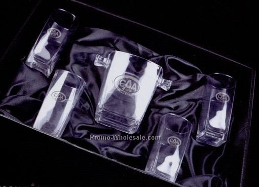 Madison Decanter Set (4 Glasses & Ice Bucket)