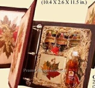 Maple Condiment Portfolio Binder Set - Vinegar/Syrup/Spread/Soft Candy