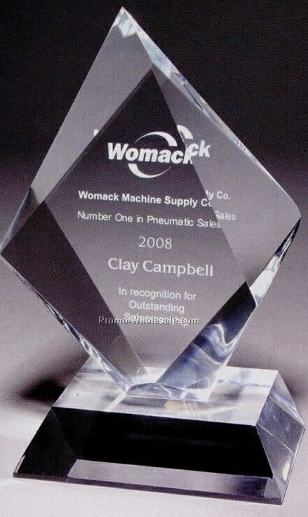 Medium Summit Multi-faceted Acrylic Award (Laser Engraved)