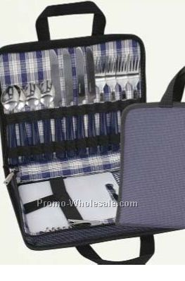 "Picnic Set For 4 - 11-1/2""x9"""