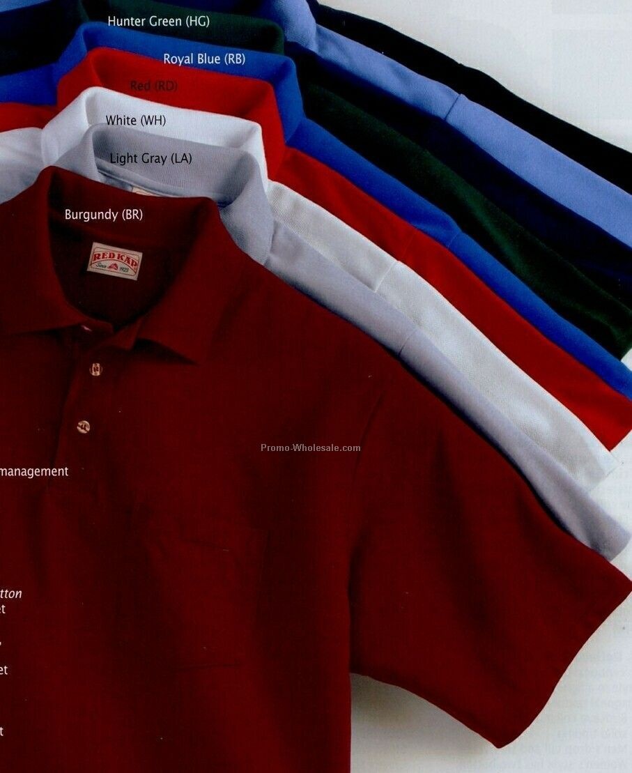 Red Kap Short Sleeve Solid Color Knit Shirt W/ Pocket (2xl-5xl) - Blue
