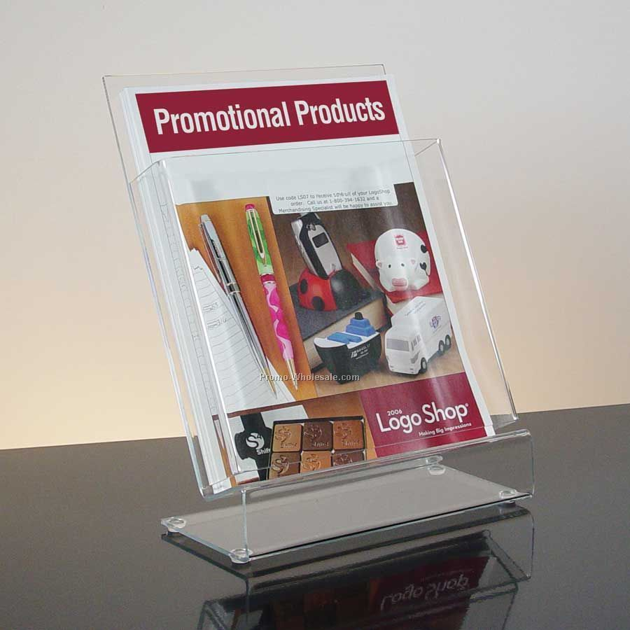 Slant-back Clear Acrylic Literature Holder - Countertop