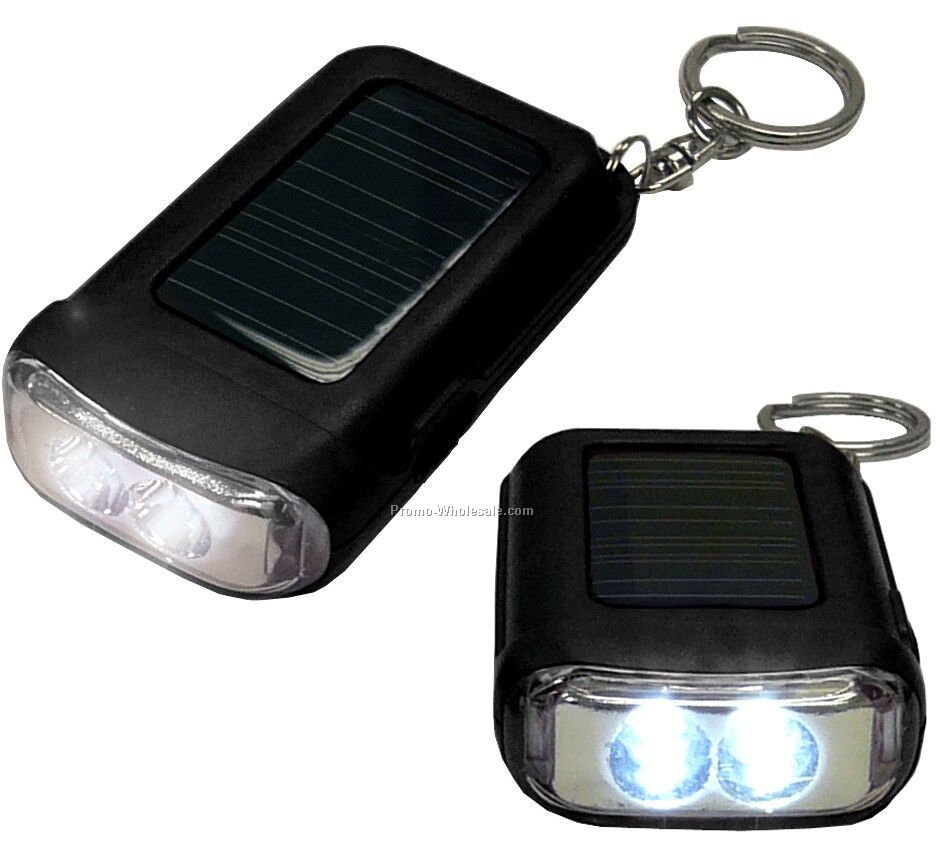 Solar Powered LED Keychain- Magical Next Day Service