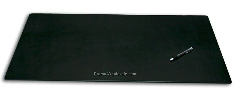 "Top Grain Leather Desk Pad - 38""x24"" Black"