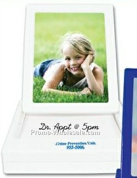 White Pop-up Picture Frames W/ Notepad