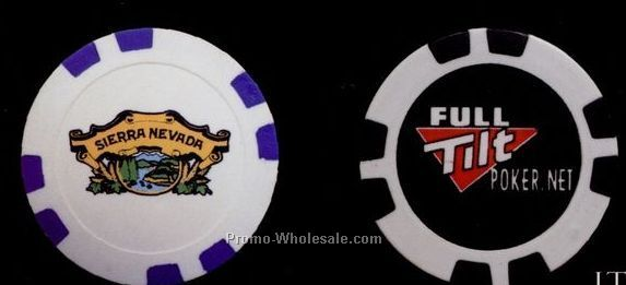 11-1/2 Gram Custom Poker Chip Up To 4 Spot Colors