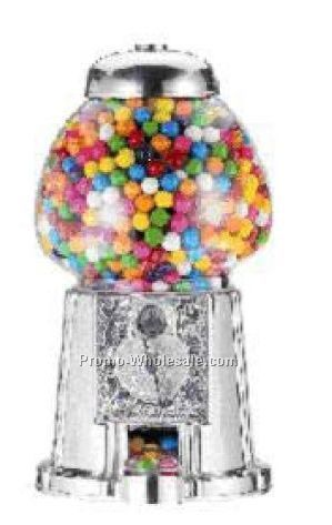"15"" Metal & Glass Gumball Machine/Bank"
