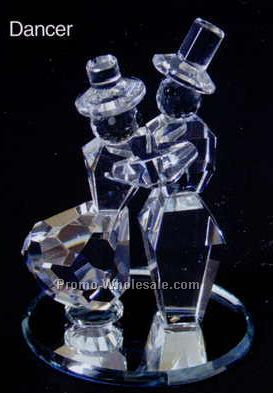 "2-3/4"" Optic Crystal Mirror Bottom Dancer Figurine"