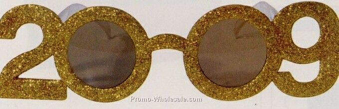 2009 Gold Glitter Glasses