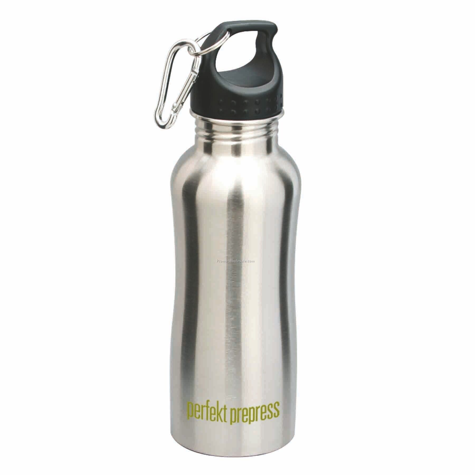 22 Oz Stainless Steel Bottle, Silver