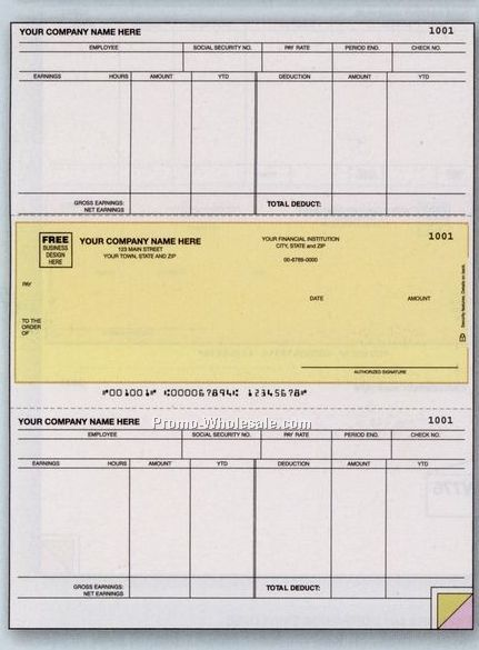 3 Part Accounts Payable Laser Check (Best Software)