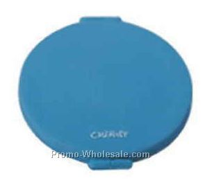 "3""x2/5"" Round Double Side Mirror With 2 Rubber Sides"