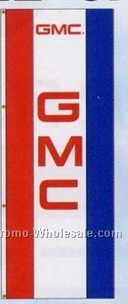 3'x8' Single Face Dealer Interceptor Logo Flags - Gmc