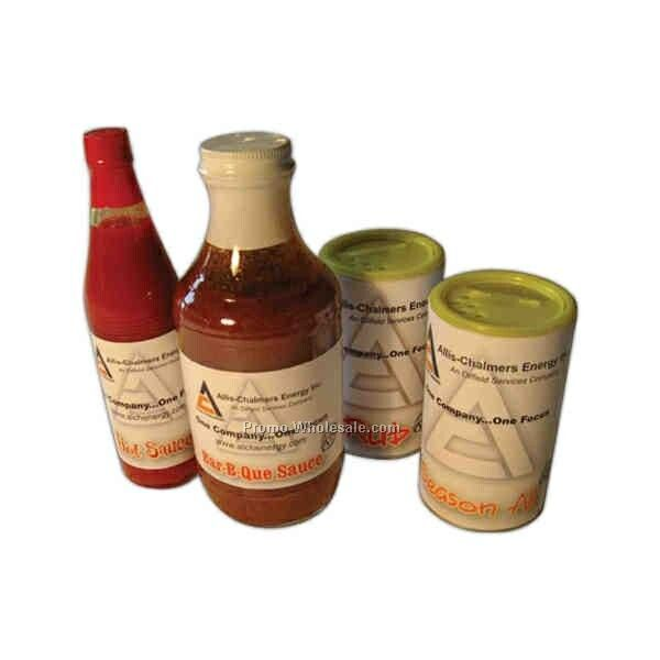 4-pack Gift Set - Custom Labeled Bbq & Hot Sauce And Rub & Cajun Seasoning